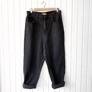 Vintage 90s Black High Rise Mom Jeans - SHORT